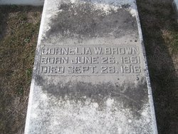 Cornelia W Brown