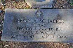 PFC Leroy A. Schaefer