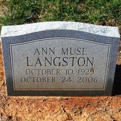 Ann <i>Muse</i> Langston