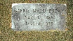 Carrie Maud <i>Magbee</i> Brown