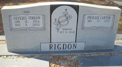 Phyllis <i>Carter</i> Rigdon