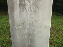 Pvt Ernest Bailey