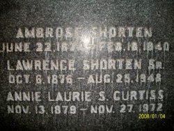 Annie Laurie S <i>Shorten</i> Curtis