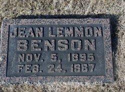 Jean Reavis <i>Lemmon</i> Benson