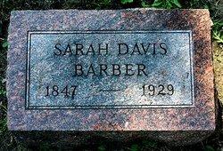 Sarah Rebecca <i>Davis</i> Barber