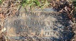 Mary Homer <i>Warlick</i> Wilson