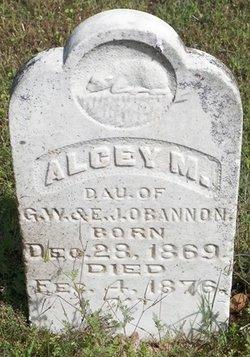 Alcey M O'Bannon