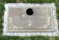 Ida C <i>Maness</i> Laningham