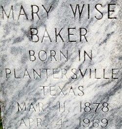 Mary <i>Wise</i> Baker