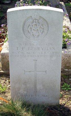 Private Thomas Frederick Berryman