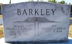 Frances L. <i>Freeze</i> Barkley