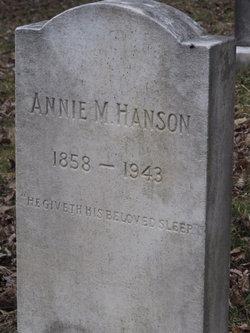 Annie M Hanson