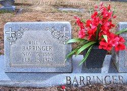 William Adolphus Willie Barringer