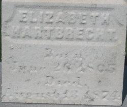 Anna Elizabeth <i>Bohrer</i> Hartbrecht