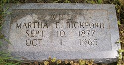 Martha E <i>Branstetter</i> Bickford