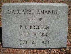 Margaret Elizabeth <i>Emanuel</i> Breeden