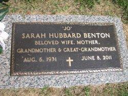 Sarah Josephine <i>Hubbard</i> Benton