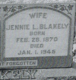 Jane Anne Jennie <i>Latimer</i> Blakely
