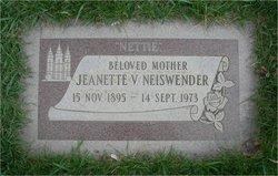 Jeanette Nettie <i>Van Orman</i> Neiswender