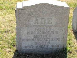 John G Ade