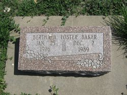 Bertha A. <i>Foster</i> Baker