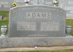 Amanda Jane <i>Hobson</i> Adams