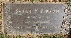 Sarah Yetta Shirley <i>Weinberg</i> Berman