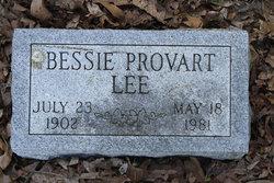 Bessie <i>Provart</i> Lee