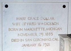 Mary Grace Grace <i>Dollar</i> Dickson