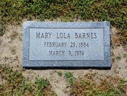 Mary Lola Barnes
