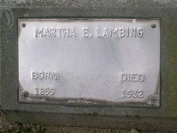Martha Ellen Mattie <i>Conner</i> Lambing