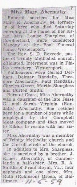 Mary Elizabeth Abernathy