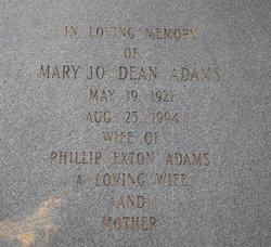 Mary Jo <i>Dean</i> Adams