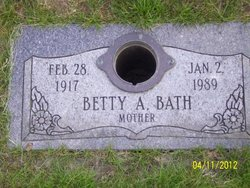 Betty A. <i>Scott</i> Bath