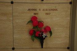 Jennie C Alexander