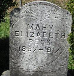 Mary Elizabeth <i>Pletcher</i> Peck