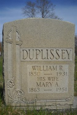 Mary A <i>Thibault</i> Duplissey