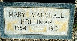Mary <i>Marshall</i> Holliman