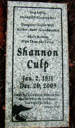 Dorothy May Shannon <i>Chitwood</i> Culp