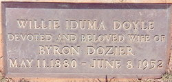 Willie Iduma <i>Doyle</i> Dozier