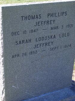 Sarah Ludoska Lulu <i>Crosfield</i> Jeffrey