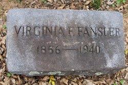 Virginia F <i>Spiggle</i> Fansler