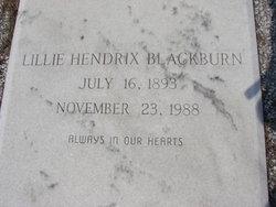 Lillie Irene <i>Hendrix</i> Blackburn
