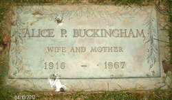 Alice P Buckingham
