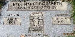 Rita Marie Elizabeth Libby <i>Lybarger</i> Ackley