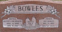 Bertha Leah <i>Bowers</i> Bowles