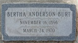 Bertha Elvina <i>Anderson</i> Burt