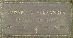 Edward D Alexander