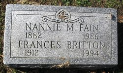 Nannie M <i>Shellenberger</i> Fain