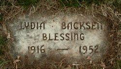 Lydia <i>Backsen</i> Blessing